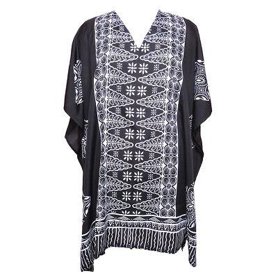Black and White Tunic Kaftan Short Kaftan Caftan Boho Tunic Beachwear for sale  Shipping to India