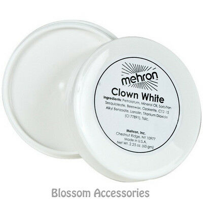 A849 Mehron Clown White Face Paint Professional Makeup Mime Greasepaint 65g (Painting A Clown Face)