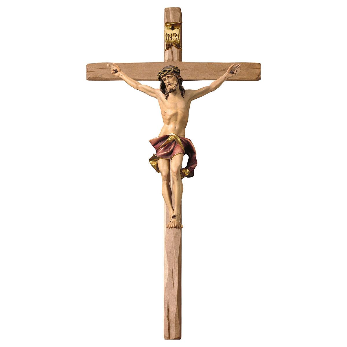 Kruzifix Nazarener , Nazareth, Nazareth WoodCarved Blick, rot cloth