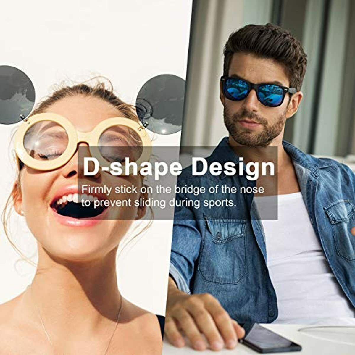 24 Paar Brille Nasenpads Weiche Silikon Nasenpads Rutschfeste Selbstklebende NEU