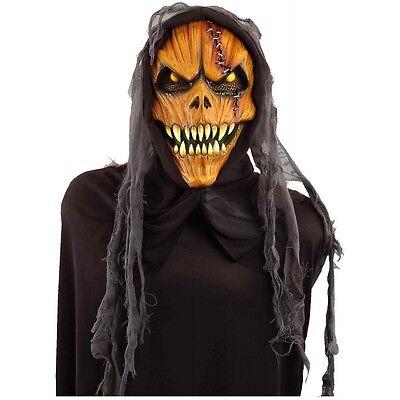 Hooded Pumpkin Costume Mask Adult - Pumpkin Costume Halloween