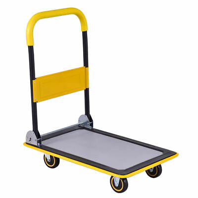 Heavy Duty Folding Warehouse Utility Moving Cart Dolly Push Hand Truck Trolley