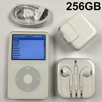 160 Gb Ipod Video - iPod Video White 5.5G 5th Generation Black Classic SSD Wolfson DAC 160GB 256GB