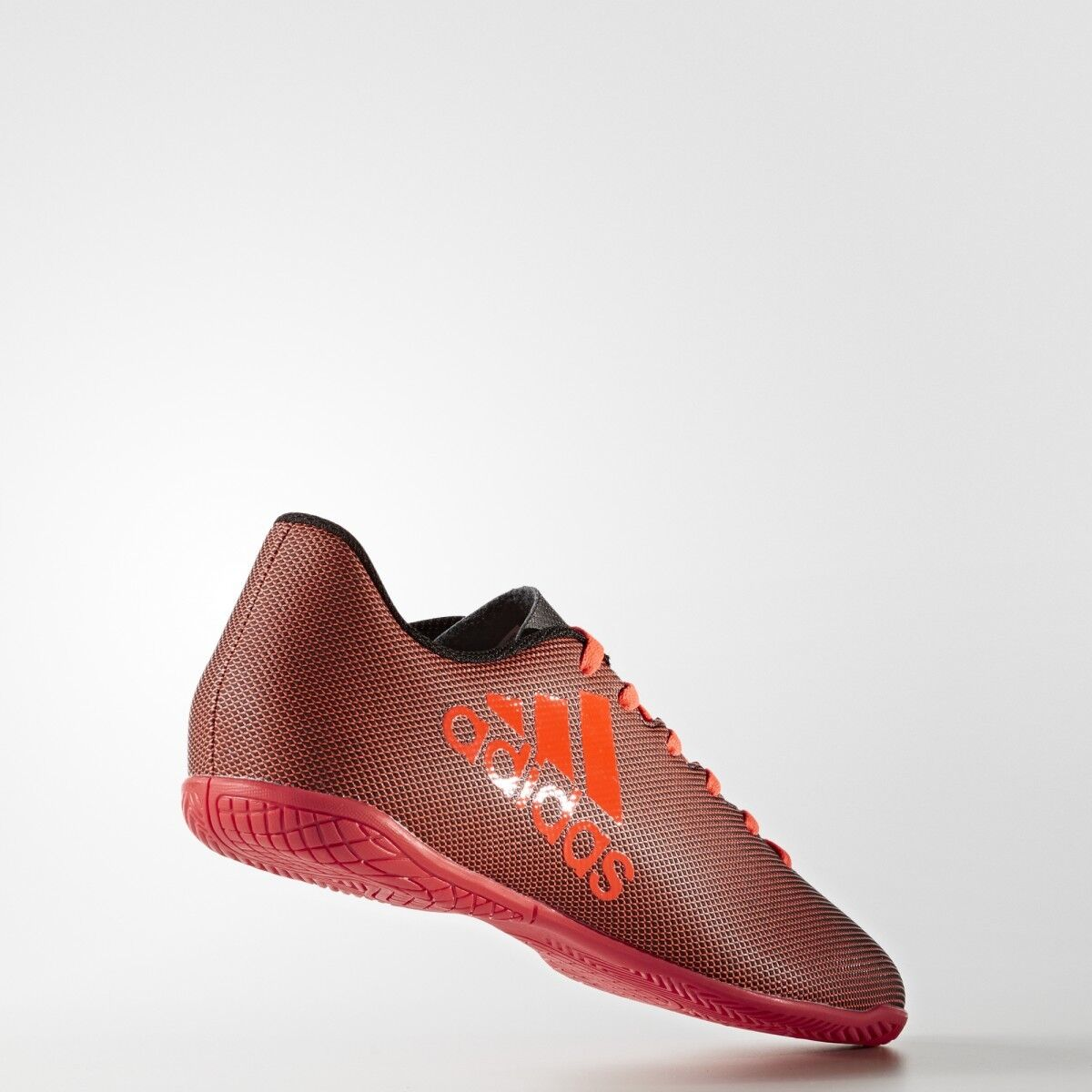 Adidas Men's X 17.4 IN Indoor Soccer Shoes S82406 Black/Red Sz 8 - 13