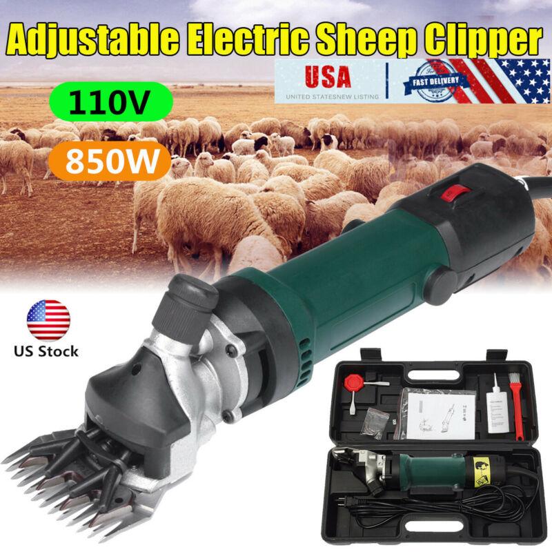 US Electric Shears Shearing Clipper Sheep Machine Animal Goat Pet Farm 850W