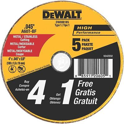 Dewalt DW8061B5 4in. x 0.045in. 5 Pc. Metal and Stainless Cu