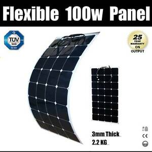 100W 12V Flexible Solar panel Kit Caravan Camping Power Mono Char Wangara Wanneroo Area Preview