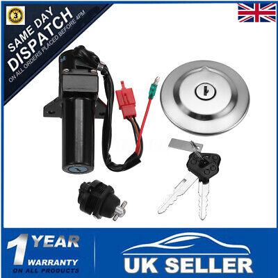 3 Pins Ignition Switch Fuel Gas Cap Seat Lock Key Set For Yamaha YBR125 YBR 125