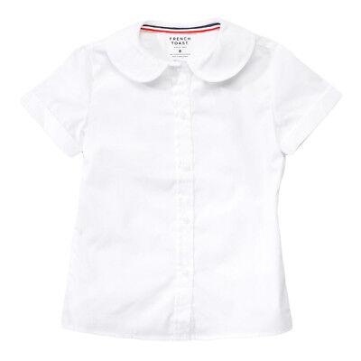 Toddler Girls White Blouse Peter Pan Collar French Toast School Uniform 2T to (Girls Peter Pan Collar Blouse)