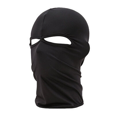 Outdoor Motorcycle Full Face Mask Balaclava Ski Neck Protection Black YM