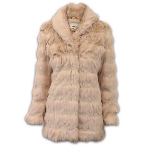 Mujer-Piel-largo-abrigo-chaqueta-mujer-vintage-Boutique-Forro-Vison-Informal
