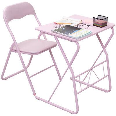Kids Folding Table Chair Set Study Writing Desk Student Children Home School New