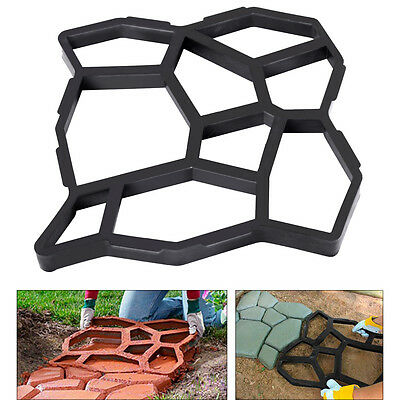 Driveway Paving Pavement Mold Patio Concrete Stepping Stone Path Walk Maker New