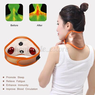 Infrarot Magnetisch Hals Pad Massagegerät Heiz Gürtel Zervikal Schutzstrebe USB