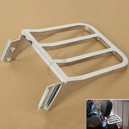 Motorcycle Chrome Sissy Bar Backrest Luggage Rack Rear