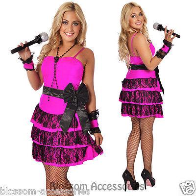 888 80s Madonna Pop Star Material Girl Dress Up Costume