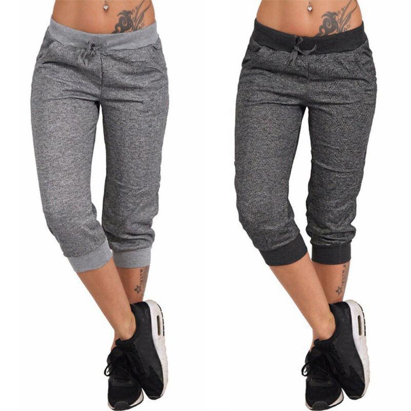 Womens Joggers Tracksuit Bottoms Trousers Slacks Gym Jogging