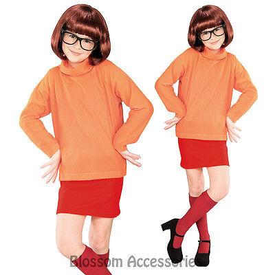 CK246 Licensed Scooby Doo Velma Fancy Dress Child Costume Kids Girls Book Week - Velma Costume Child