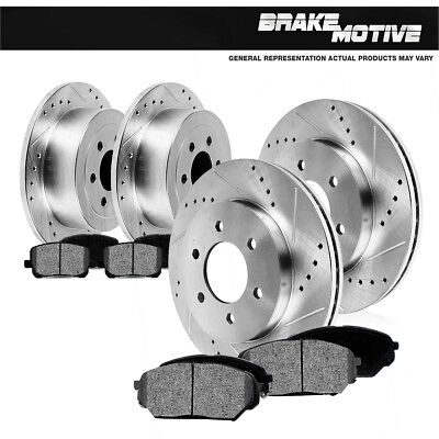 - Front+Rear Brake Rotors And Metallic Pads For Ford Expedition Lincoln Navigator