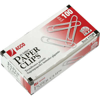 Acco Smooth Economy Paper Clips Jumbo Size 1000ct