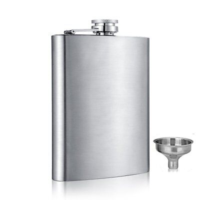 6 8 10 oz Liquor Stainless Steel Pocket Hip Flask Screw Cap with Funnel 6 Ounce Pocket Flask