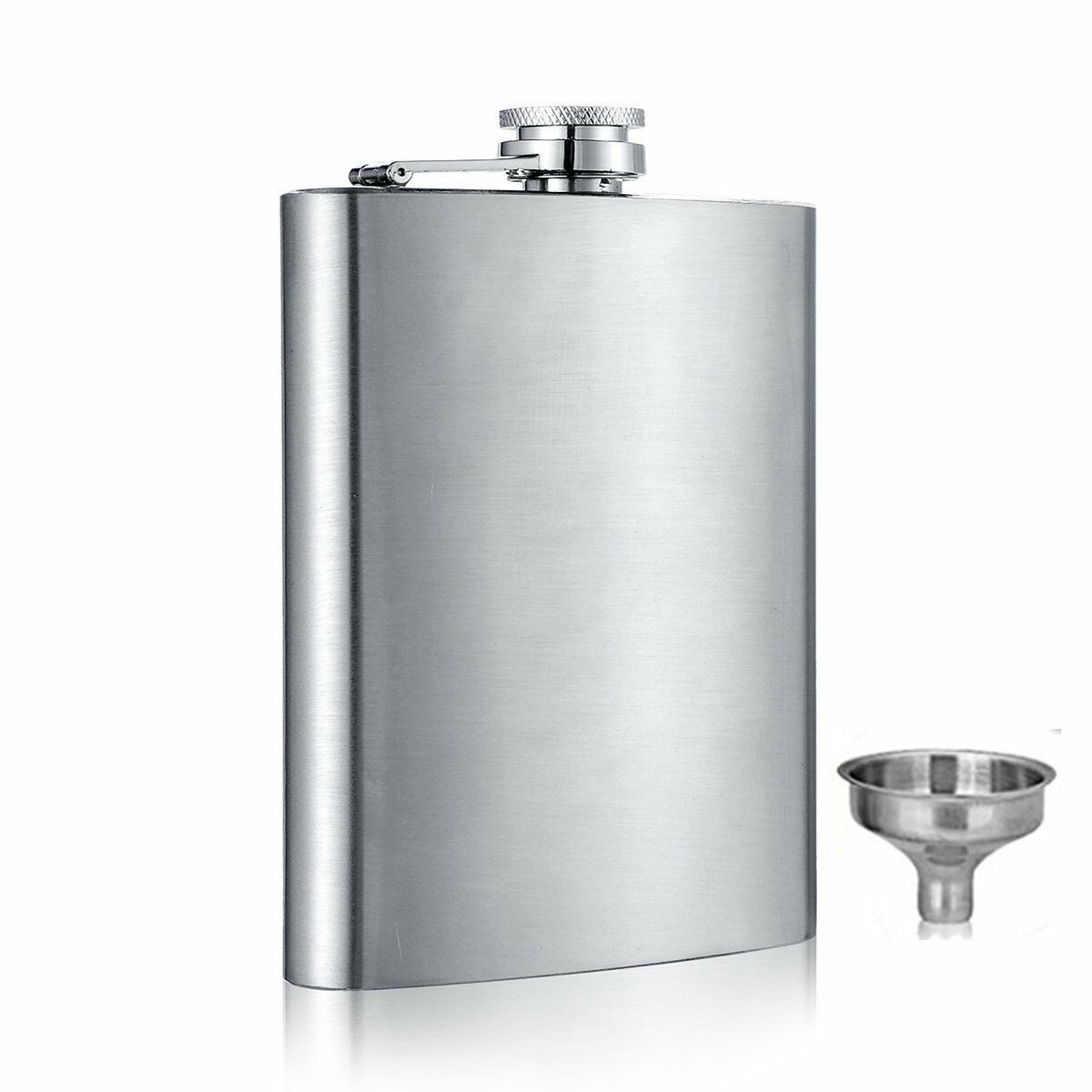 6 8 10 oz Liquor Stainless Steel Pocket Hip Flask Screw Cap with Funnel Bar Tools & Accessories