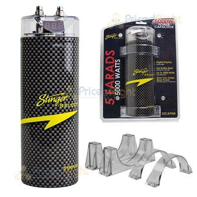 5 Farad Capacitor Stinger Select SSCAP5M 5000 Watts Power 12V Car Digital Power 12 Farad Car Capacitor