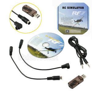 USB Flight Simulator Wire Dongle For RC Helicopter Aeroplane RealFlight 22 in 1