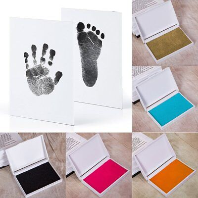 Photo Frame Kit Newborn Baby Handprint and Footprint with Clean Touch Ink Pad (Baby Footprint)