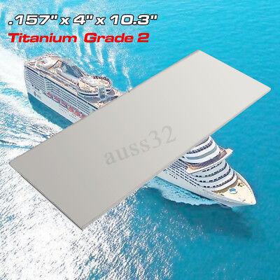 4mm Thick Metal Titanium 6al-4v Sheet 0 .157 X 4 X 10.3 Grade 2 Ti Gr.2 Plate