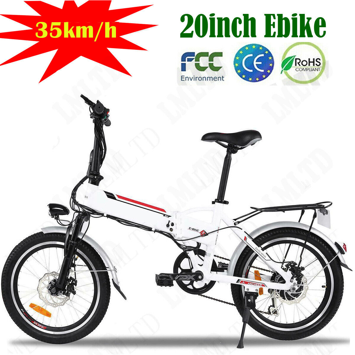 Damping 20'' Electric Bike EBike Bicycle City Folding Bike S