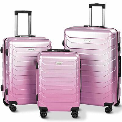 Set of 3 Luggage Expandable Trolley Suitcases w/TSA Lock 20