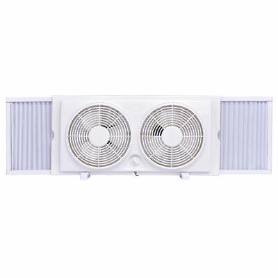 """7"""" Dual Blade Twin Window Fan 2-Speed Setting Reversible Air"""