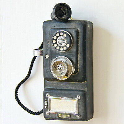 Vintage Rotary Telephone Statue Shabby Corded Phone Figurine Wall Mount Decor for sale  Shipping to Canada