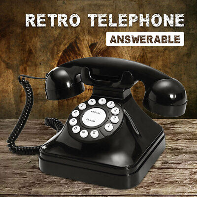 Black Vintage Retro Antique Phones Wired Cored Landline For