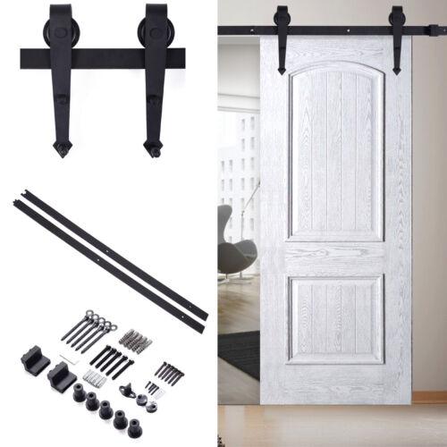 6FT Sliding Barn Door Hardware Kit Hang Style Modern Closet Sliding Track Rail