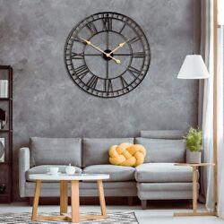 Vintage Big Wall Clock Rustic Retro Metal 24 Inch Handmade