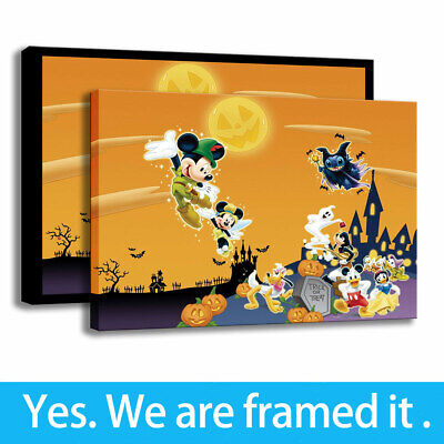Disney Halloween Paintings HD Print Kids Room Decor Cartoon Art Canvas 12x16 - Halloween Cartoons Hd