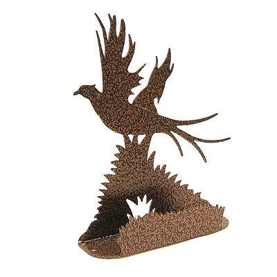 Pheasant Copper Vein Metal Business Card Holder
