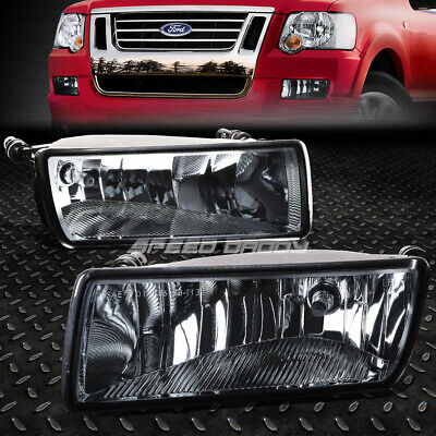 FOR 06-10 FORD EXPLORER SPORT TRAC SMOKED LENS BUMPER FOG LIGHT REPLACEMENT LAMP Sport Trac Fog Driving Light