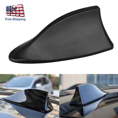 Car Shark Fin Roof Antenna Radio FM/AM Decor Aerial Fit for Hyundai Toyota Black