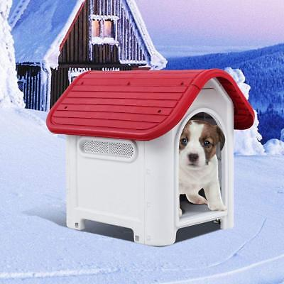 Waterproof Plastic Dog Cat Kennel Puppy Home Outdoor Pet Shelter Dog Up to 20LB