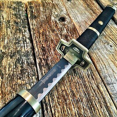 "41"" BLACK GOLD SAMURAI NINJA Bushido KATANA Japanese Sword Carbon Steel Blade -W"