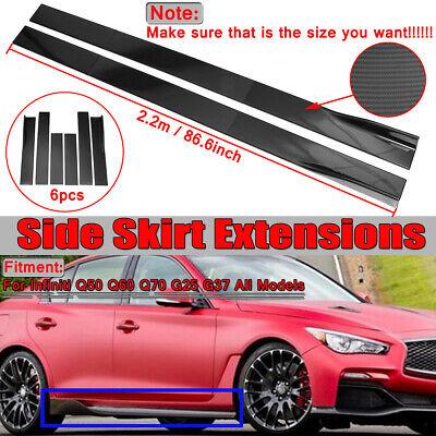 Infinity Side Skirts - Carbon Black Side Skirts Extension Lip Splitter For Infiniti Q50 Q60 Q70 G25 G37
