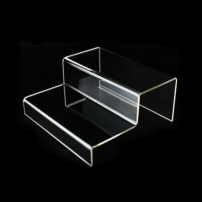 2 Tier Step Acrylic Display Riser Stand Jewellery Shoes Retail Counter S1