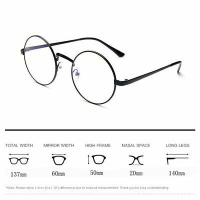Women Men Oversized Round Spectacle Glasses Frames Glasses With Clear (Oversized Spectacle Frames)