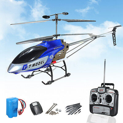 New 53 Inch Unused Large GT QS8006 2 Speed 3.5 Ch RC Helicopter Builtin GYRO Blue