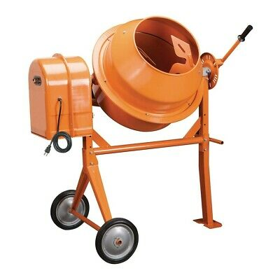 Cement 3-12 Cubic Ft. Portable Solid Steel Stucco Mortar Cement Mixer