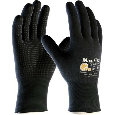 Maxiflex Endurance Nitrile Coated Nylon Lycra Work Gloves Black