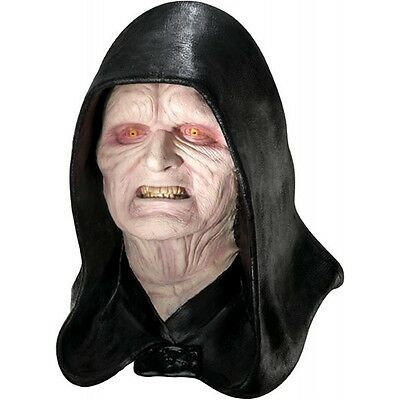 Deluxe Emperor Palpatine Costume Mask Darth Sidious Adult Star Wars Fancy Dress - Star Wars Mask
